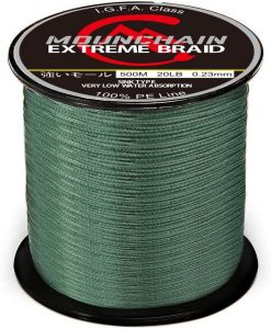 4 and 8 Strands Braided Fishing Line by Mounchain