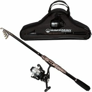 Wakeman Telescopic Spinning Rod and Reel Combo