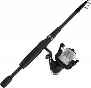 Zebco Fishing Rod Combo with 33 Telescopic Spinning Reel